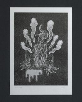 Candle Light _ xerox _ print _ poster _ arthur plateau _ illustration _ silver